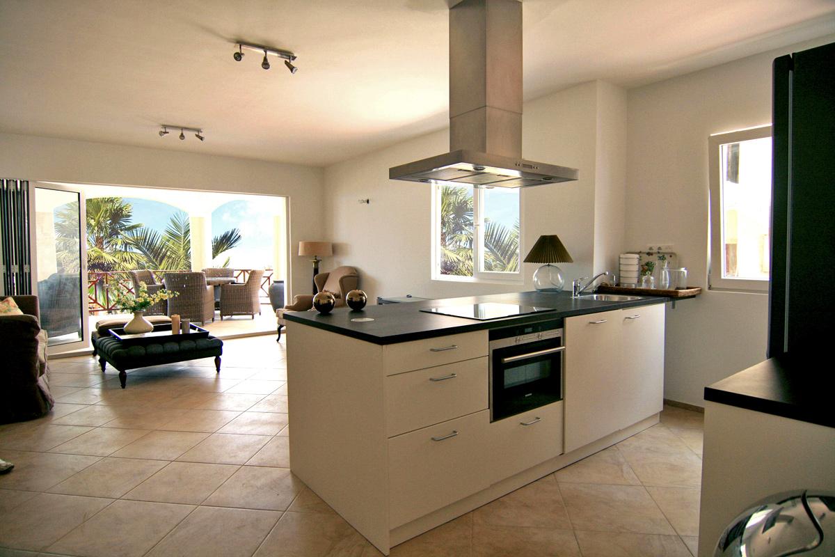 Keuken en Woonkamer Begane Grond Appartement - Residence LeBleu - Blue Bay Curacao